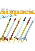 NEW Six Pack Classic with Balsa fins