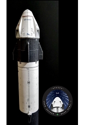 <b>NEW</b> 1/144 Falcon 9 Crew Dragon <br/>Flying Model