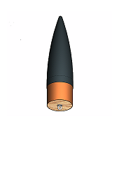 75mm Nose Cone  <br /> Black